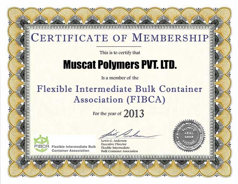 Certificates Memberships Muscat Polymers Pvt Ltd